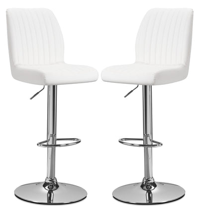 Monarch Adjustable Bar Stool, Set of 2 – White|Tabouret réglable Monarch, ensemble de 2 - blanc|I2370WBP