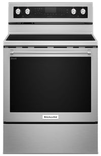 KitchenAid 6.4 Cu Ft. Five-Element Electric Convection Range - Stainless Steel
