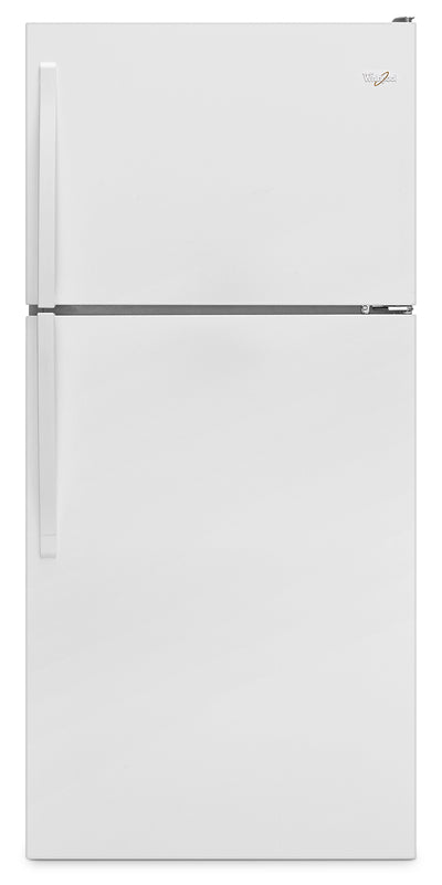 "Whirlpool® 18.2 Cu. Ft. 30"" Wide-Top Freezer Refrigerator – White - Refrigerator in White"