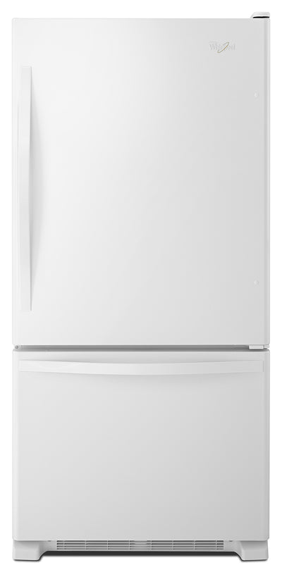 Whirlpool 22 Cu. Ft. Bottom-Mount Refrigerator – WRB322DMBW - Refrigerator in White