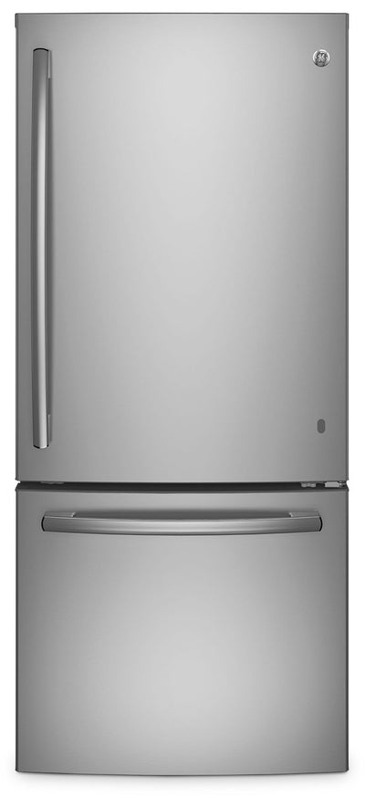 GE 20.9 Cu. Ft. Bottom-Freezer Refrigerator – GDE21DSKSS - Refrigerator in Stainless Steel