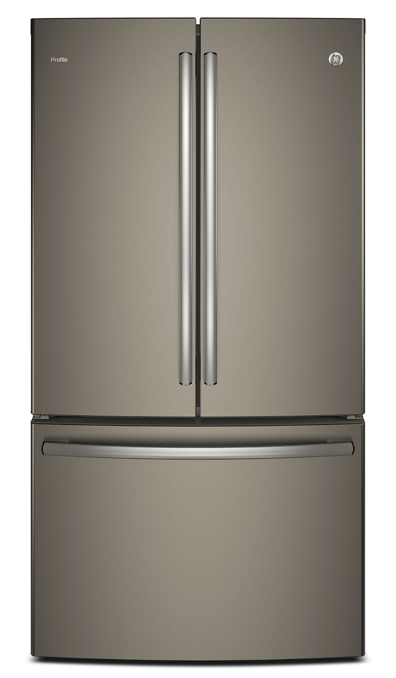 GE 23.1 Cu. Ft. French-Door Refrigerator with Internal Water Dispenser – PWE23KMKES|Réfrigérateur GE de 23,1 pi³ à portes françaises avec distributeur d'eau interne – PWE23KMKES