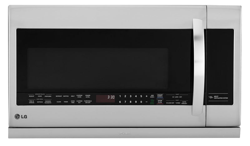 LG 2.2 Cu. Ft. Over-the-Range Microwave – Stainless Steel|Four à micro-ondes à hotte intégrée LG de 2,2 pi³ - acier inoxydable