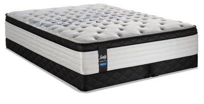 Sealy Posturepedic Proback Plus Rose Petal Eurotop Low-Profile Split Queen Mattress Set