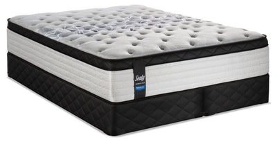 Sealy Posturepedic Proback Plus Rose Petal Eurotop Split Queen Mattress Set