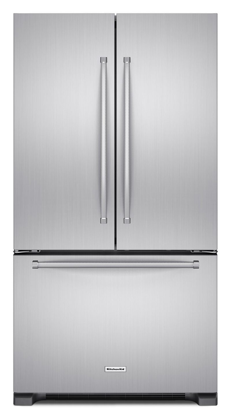 KitchenAid 22 Cu. Ft. French Door Refrigerator with Interior Dispenser - Stainless Steel - Refrigerator with Ice Maker in Stainless Steel