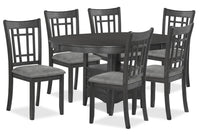 Desi 7-Piece Dining Package – Charcoal