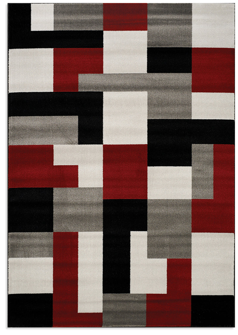 Platinum Red and Grey Area Rug – 5' x 8'|Carpette Platinum rouge et gris – 5 pi x 8 pi