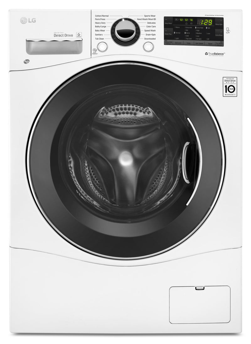 LG 2.6 Cu. Ft. Compact Front-Load Washer – WM1388HW|Laveuse LG compacte de 2,6 pi3 à chargement frontal – WM1388HW