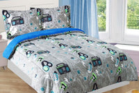 Music 3-Piece Full Comforter Set