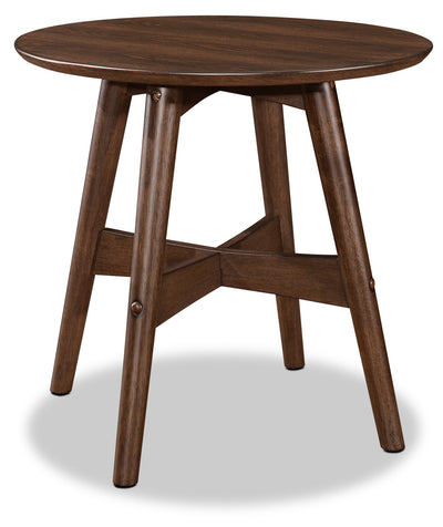 Atlanta End Table - Retro style End Table in Walnut Rubberwood Solids and Ash Veneers