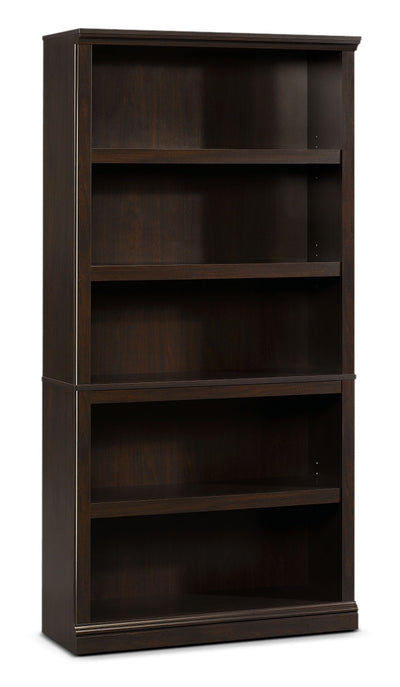 Florida Bookcase with Five Shelves – Jamocha Wood - Contemporary style Bookcase in Espresso