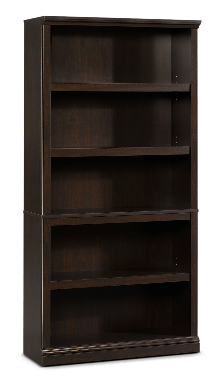 Florida Bookcase with Five Shelves – Jamocha Wood|Bibliothèque Florida à cinq tablettes - bois jamocha|410375