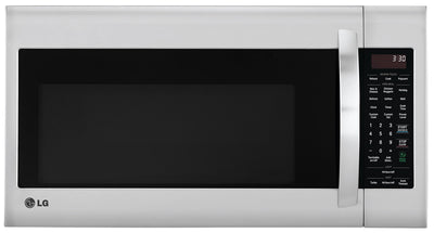 LG 2.0 Cu. Ft. Over-the-Range Microwave with EasyClean™ Interior – Stainless Steel|Four à micro-ondes à hotte intégrée LG de 2,0 pi³ avec intérieur EasyCleanMC - acier inoxydable|LMV2053ST