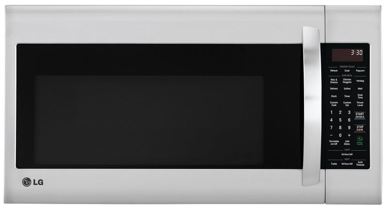LG 2.0 Cu. Ft. Over-the-Range Microwave with EasyClean™ Interior – Stainless Steel|Four à micro-ondes à hotte intégrée LG de 2,0 pi³ avec intérieur EasyCleanMC - acier inoxydable
