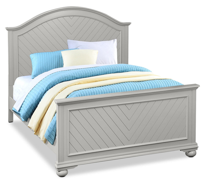 Brooke Queen Bed – Grey|Grand lit Brooke - gris