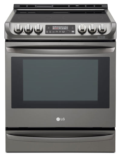 LG 6.3 Cu. Ft. Front-Control Freestanding Electric Range ProBake Convection™ – LSE5613BD - Electric Range in Black Stainless Steel