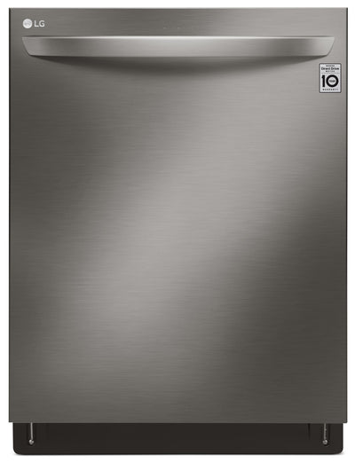 LG Wi-Fi Enabled Dishwasher with QuadWash and TrueSteam – LDT7808BD - Dishwasher with Steam in Black Stainless Steel