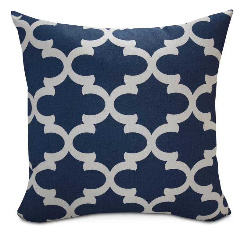 Santoro Blue Geo Accent Pillow|Coussin décoratif Santoro Blue Geo