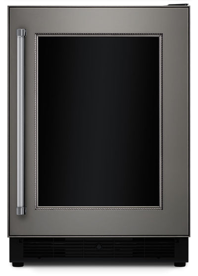"KitchenAid 24"" Panel-Ready Right-Swing Door Beverage Cellar with Freezer Drawer - Refrigerator in Panel Ready"