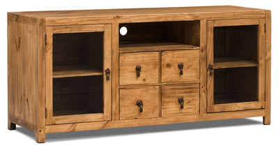 "Santa Fe Rusticos 59"" Solid Pine TV Stand - Rustic style TV Stand in Pine"