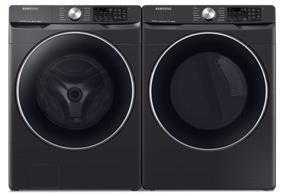 Samsung 5.2 Cu. Ft. Smart Washer and 7.5 Cu. Ft. Smart Dryer - SAFL630V - Laundry Set in Fingerprint Resistant Black Stainless Steel