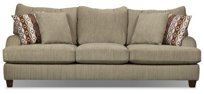 Putty Chenille Sofa - Beige - Contemporary style Sofa in Beige