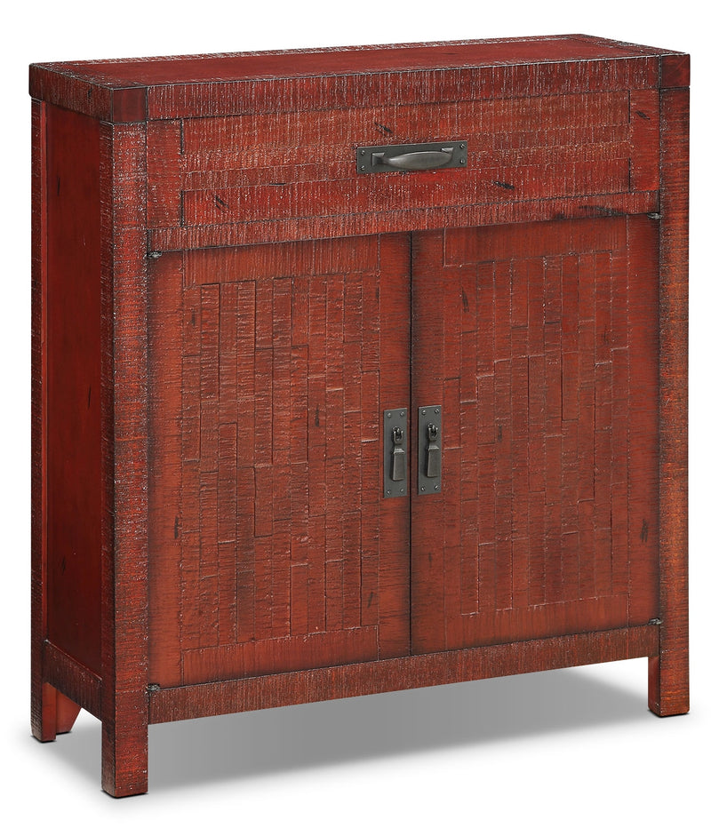 Acacia 2-Door Accent Cabinet – Red|Armoire décorative Acacia à 2 portes - rouge|ACARDACC