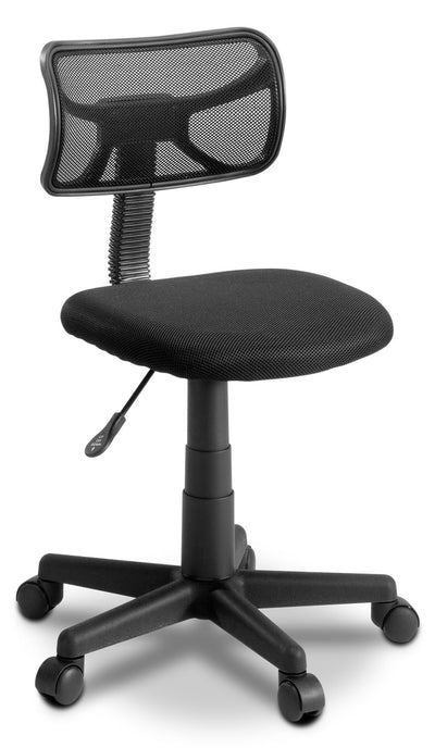 Denver Fabric and Mesh Task Chair - Contemporary style Office Chair in Black