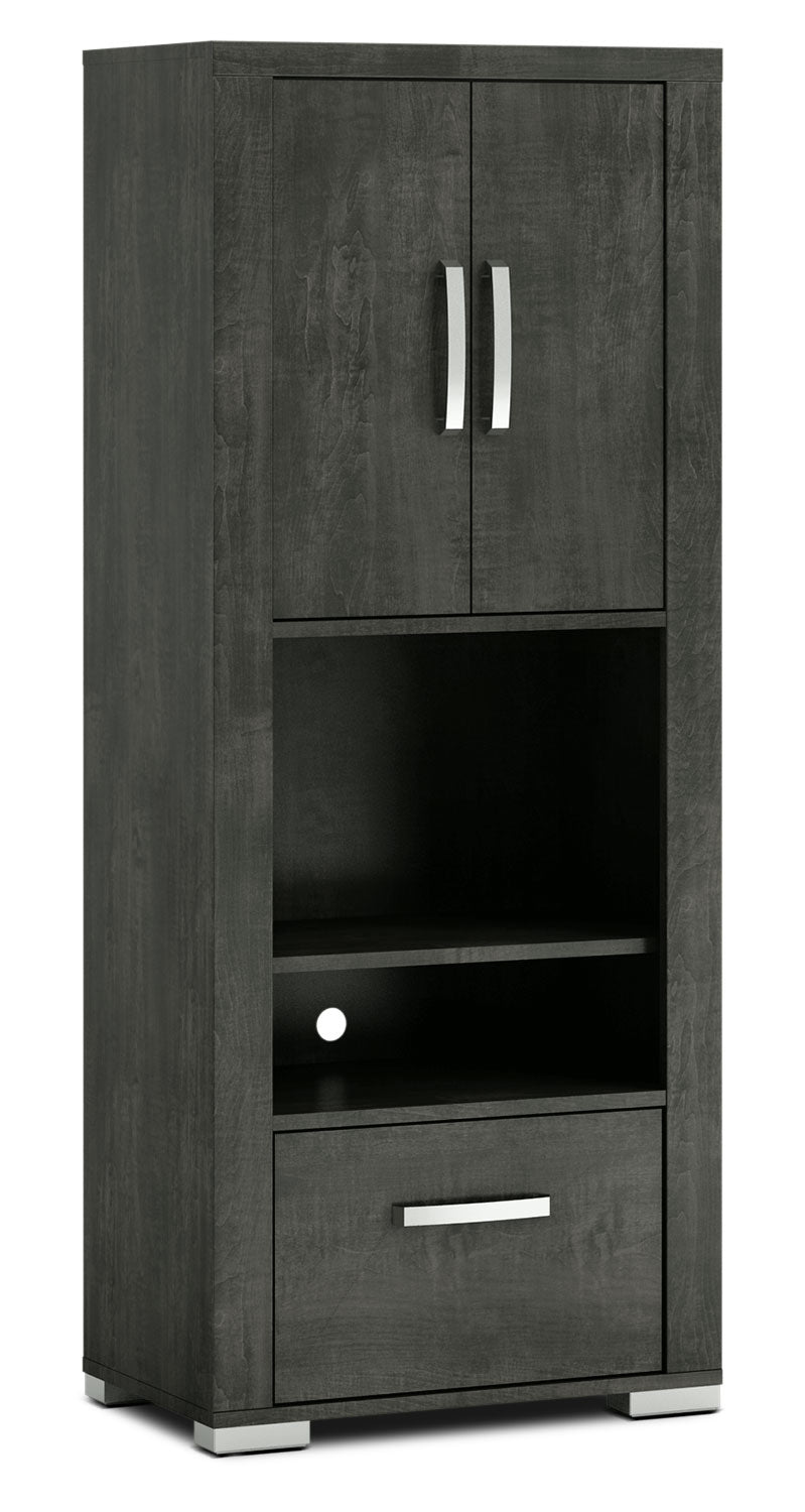 Allendale Right/Left Closed Pier - Anthracite - Modern style Storage Pier in Anthracite Particle Board and Laminate