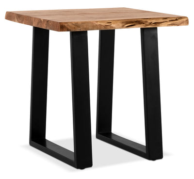 Agra End Table - Retro style End Table in Brown/Black Wood