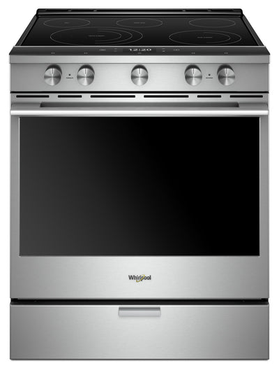 Whirlpool 6.4 Cu. Ft. Smart Slide-in Electric Range with Frozen Bake Technology - YWEEA25H0HZ|Cuisinière électrique coulissante intelligente Whirlpool®, technologie Frozen Bake™, 6,4 pi3|YWEEA25Z