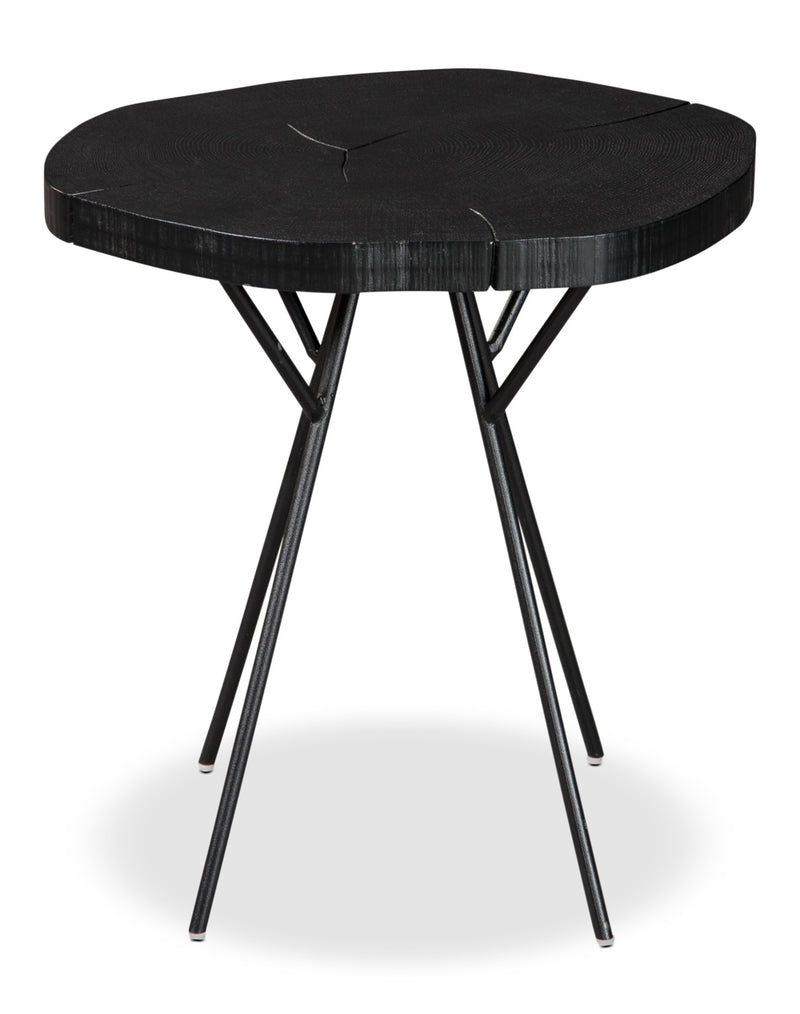 Luda Accent Table – Black|Table d'appoint Luda - noire|LUDABACC