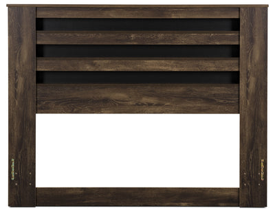 Remie Queen/Full Headboard - Rustic style Headboard in Oak Engineered Wood and Laminate Veneers