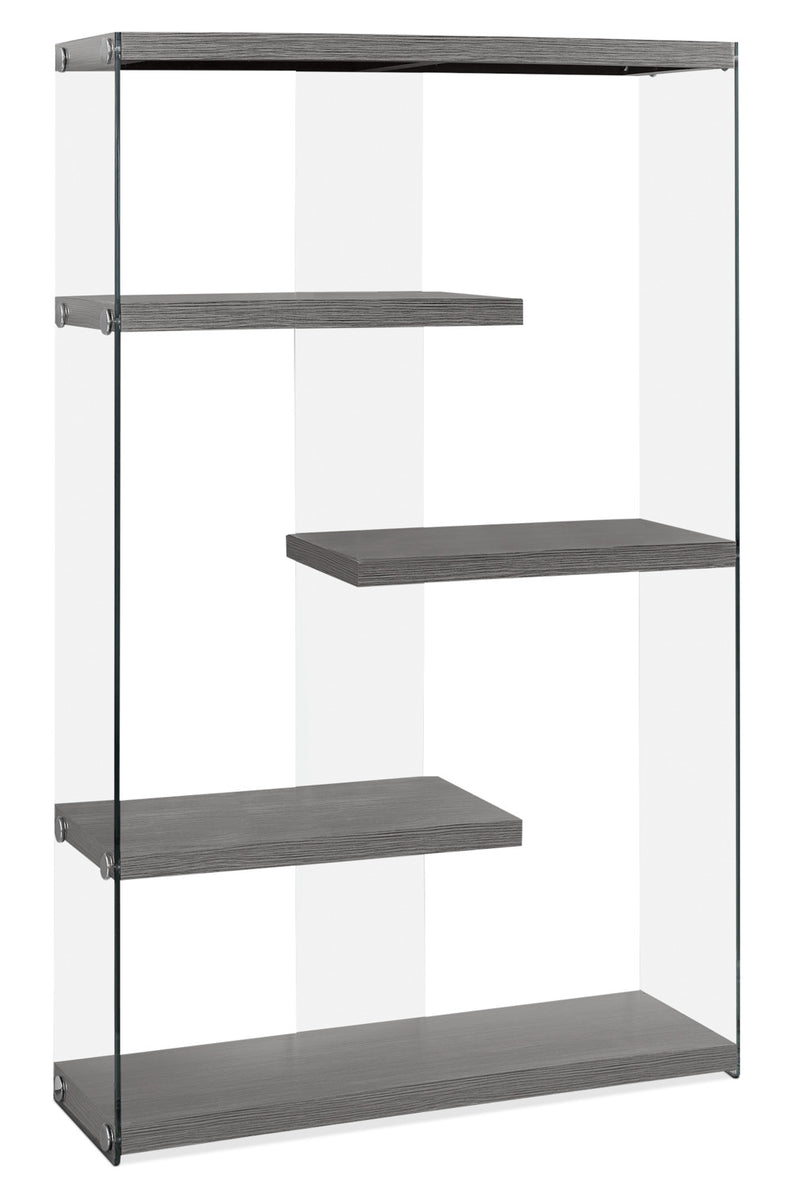 Yonah Wide Bookcase – Grey|Bibliothèque large Yonah - grise