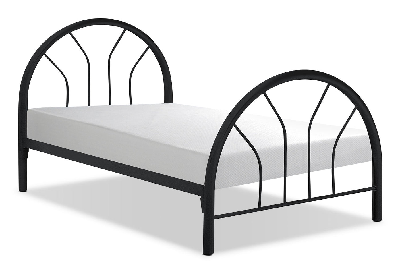 Monarch Twin Bed Black The Brick