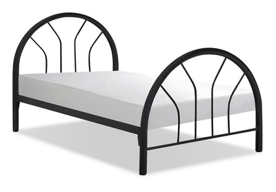 Monarch Twin Bed – Black - Contemporary style Bed in Black Metal