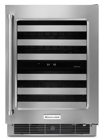 KitchenAid Wine Cellar with Right-Door Swing – KUWR304ESS|Cellier avec charnière à droite KitchenAid  - KUWR304ESS|KUWR304E