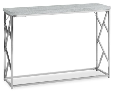 Banda Console Table - Modern style Sofa Table in Light Grey Metal