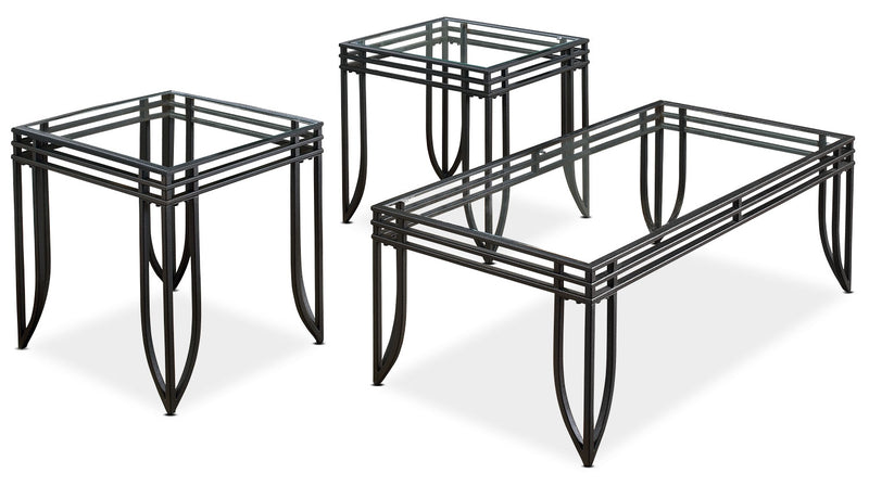 Exeter 3-Piece Coffee and Two End Tables Package|Ensemble une table à café et deux tables de bout Exeter 3 pièces