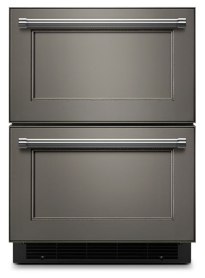 "KitchenAid 24"" Panel-Ready Double Refrigerator Drawer - KUDR204EPA