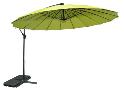 Shanghai Patio Umbrella with Base - Green|Parasol Shanghai pour la terrasse avec base - vert