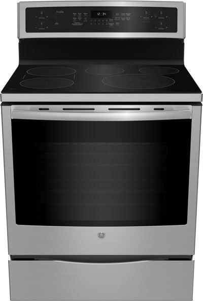 GE Profile 6.2 Cu. Ft. 5-Element Smooth-Top Electric Induction Range – PCHB920SMSS - Electric Range in Stainless Steel