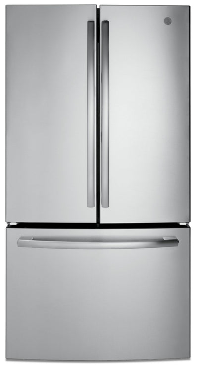 GE 27 Cu. Ft. French-Door Refrigerator with Internal Water Dispenser - GNE27JSMSS - Refrigerator in Stainless Steel
