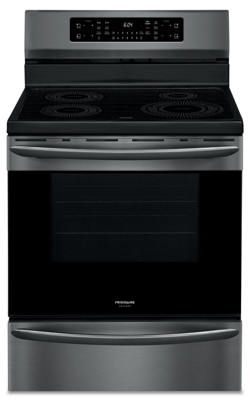 Frigidaire Gallery 5.4 Cu. Electric Induction Range with Air Fry - GCRI305CAD - Electric Range in Black Stainless Steel