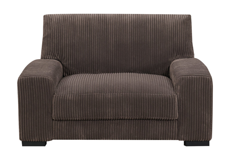 Harmony Corded Microfibre Chair - Brown - Modern style Chair in Brown Pine