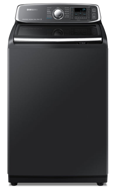 Samsung 6.0 Cu. Ft. Top-Load Washer - WA52T7650AV/A4 - Washer in Black Stainless Steel
