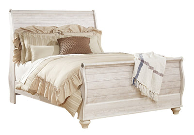 Willowton Sleigh Queen Bed | Grand lit-bateau Willowton | WILLQSBD