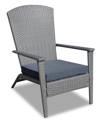 Bali Frog-Style Patio Chair - Charcoal | Fauteuil à angle Bali pour la terrasse - anthracite | BAL2C0FC