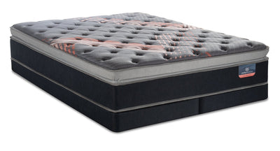 Serta Perfect Sleeper Performance Pulse Pillowtop Low-Profile Split Queen Mattress Set